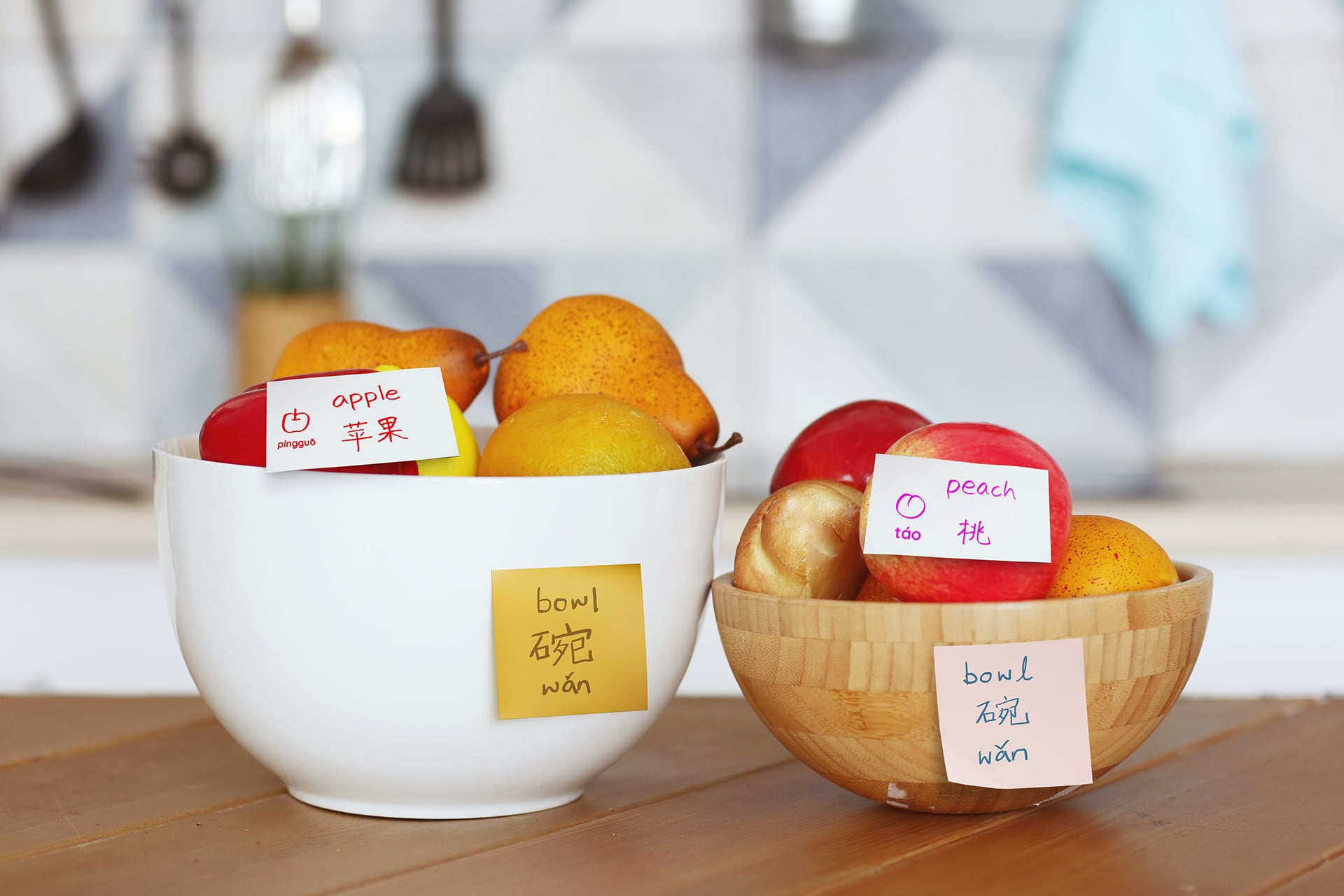 Help your kids learn Chinese through labelled items at home