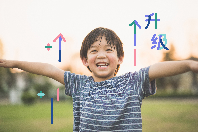 Asian child playing pilot aviator